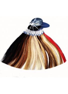 Farvering med 19 luksus hair extensions farver
