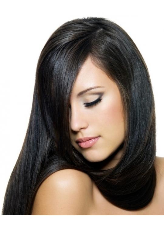 sort hår